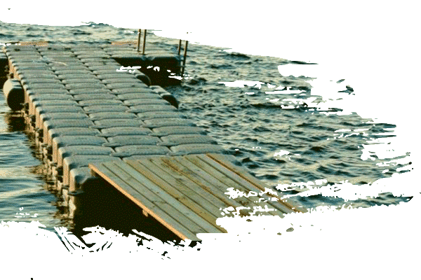 L Shape Dock + Accesories. Perfect for parking your boat, it's surface is durable and resistant. Our floating docks work with any type of boat or watercraft.